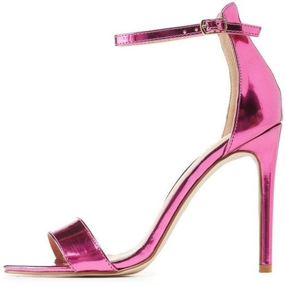 5cd194010bec Louisiana Metallic Platform Heels With Trim in Pink. BNWT Charlotte Russe  Hot Metallic Pink Heels …